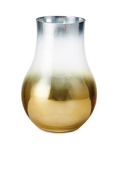 Elements 10.5-in. Golden Ombre Glass Hurricane
