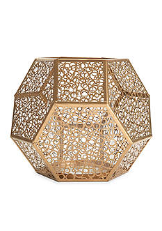 Elements 9-in. Gold Metal Mesh Candle Holder