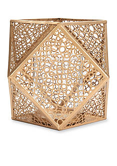 Elements 10-in. Gold Metal Mesh Candle Holder