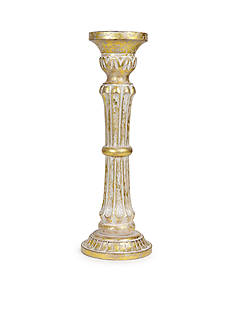 Bombay 10-in. Wood Pillar Candle Holder
