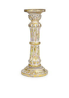 Bombay 12-in. Wood Pillar Candle Holder