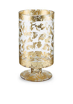 Bombay 11-in. Leopard Glass Hurricane With Base