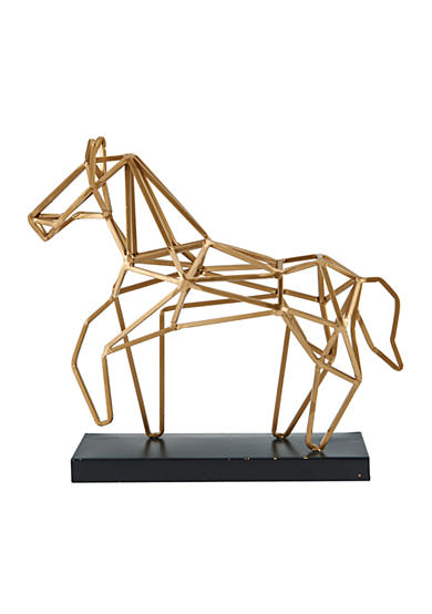 Bombay 15-in. Metal Horse Table Décor