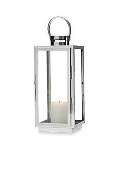 Elements 16-in. Silver Lantern