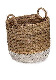 Elements ELE 14X14 WTRHYCNTH BASKET WHT NAT