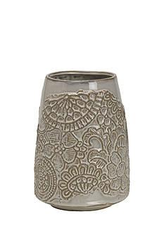 Elements 5x10 Floral Ceramic Vase