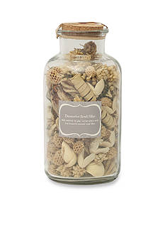 Elements 8-in. Natural Decorative Bowl Filler in Glass Jar