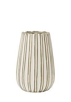 Elements 10-in. Origami Urn Ceramic Vase