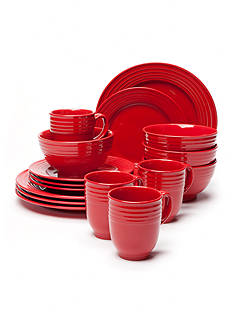 Home Accents Loft Red 16-Piece Dinnerware Set
