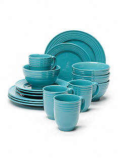 Home Accents® Loft Turquoise 16-Piece Dinnerware Set