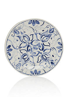 Home Accents Blue & White Paisley Salad Plate