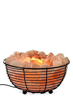 Tula Wellness Himalayan Salt Crystal Lamp in Wide Basket
