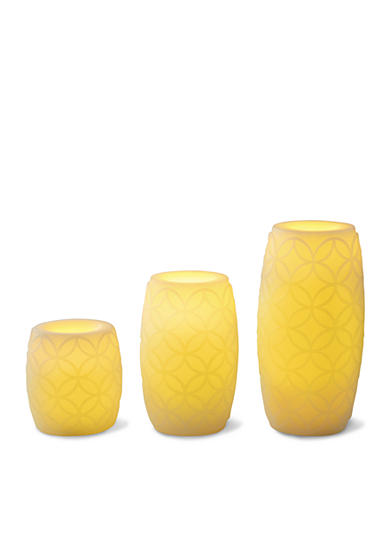 Order™ Home Collection 3-Piece Flameless Candle Embossed Set