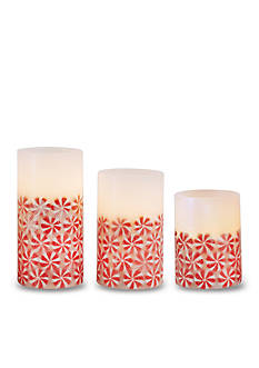Order™ Home Collection 3-Piece Peppermint Flameless LED Candle with Timer Set