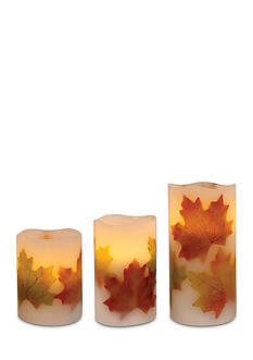 Order™ Home Collection 3-Piece Maple Leaf Flameless LED Candle Set