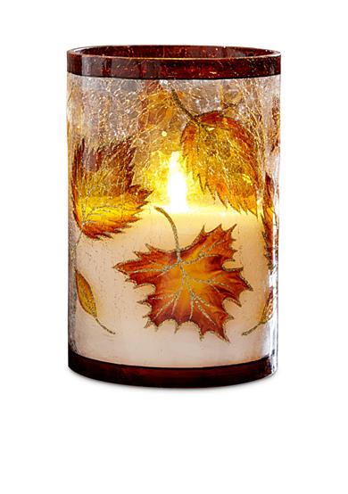 Order™ Home Collection Hurricane Harvest Flameless LED Glass Filled Candle