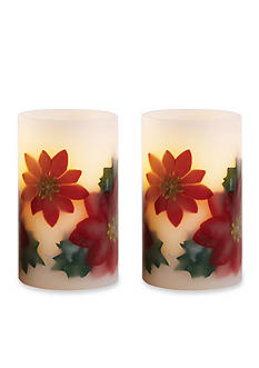 Order™ Home Collection 2-Piece Poinsettia Flameless Candle Set