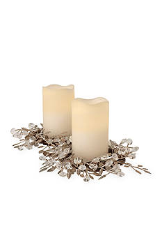 Order™ Home Collection Holiday Wreath Centerpiece with 2 Candles