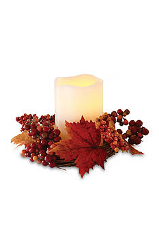 Order™ Home Collection 5-in. Flameless LED Candle with Harvest Wreath