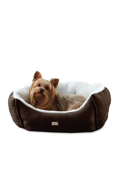 Animal Planet Small Micro Suede Brown Pet Bed