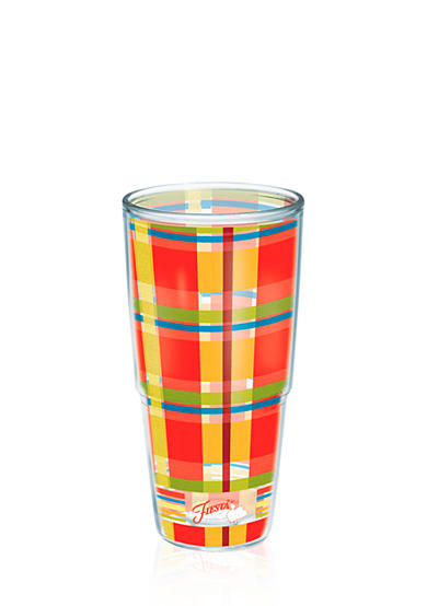 Fiesta® Tervis® Poppy Plaid 24-oz. Wrap Tumbler