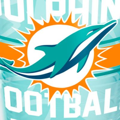 Bed & Bath: Drinkware Sale: Miami      Dolphins Tervis 24-oz. NFL Gridiron Tumbler