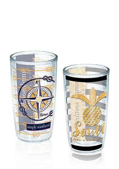 Tervis® Simply Southern® 2-Pack Pineapple and Compass Tumbler Set