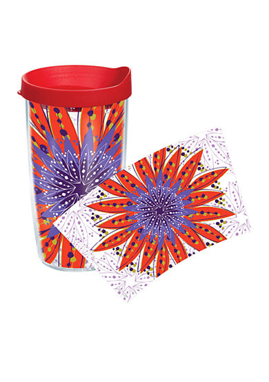 Tervis® Flower Burst Red & Purple 16-oz. Tumbler with Travel Lid