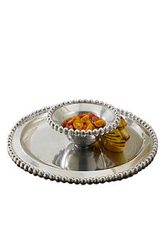 Biltmore® Big Bead Chip & Dip Silver Server