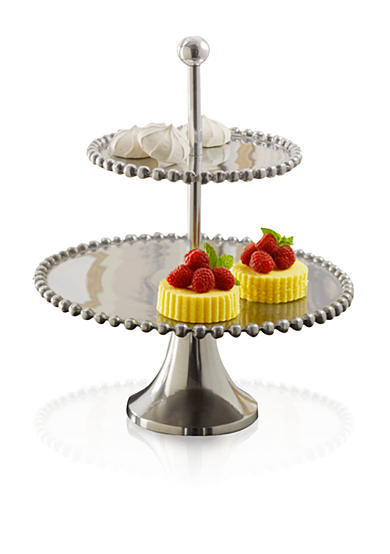 Biltmore® Big Bead 2 Tier Silver Server