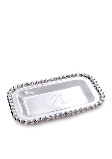 Big Bead Silver Monogram Tray