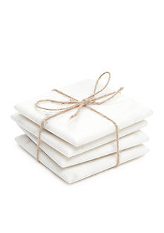 Biltmore® Artisan Set of 4 White Marble Coasters
