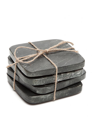 Artisan Set of 4 Black Marble Coasters