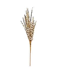 Biltmore Treetops Glisten Champagne Glitter Spray Pick Ornament