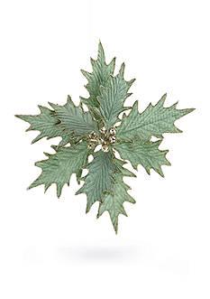 Biltmore Treetops Glisten Mint Poinsettia Clip Ornament