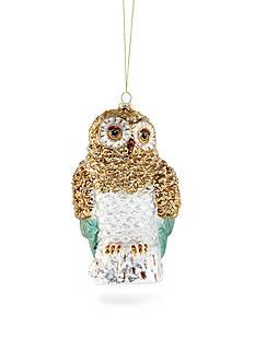 Biltmore Treetops Glisten Glass Owl Ornament
