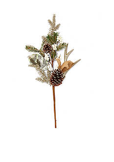 Biltmore Treetops Glisten Antlers, Berries, Magnolia Leaf and Pinecone Pick Ornament