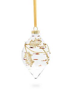 Biltmore Treetops Glisten White Glass Finial Ornament