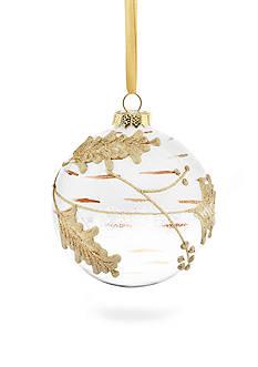 Biltmore Treetops Glisten White Glass Ball Ornament