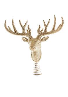 Biltmore Treetops Glisten Champagne Glitter Deer Head Tree Topper