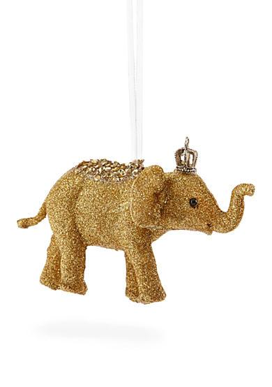 Biltmore White Christmas Gold Elephant Ornament Belk