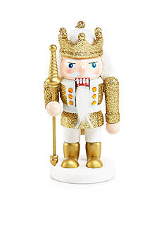 Biltmore White Christmas Gold & White Nutcracker Ornament