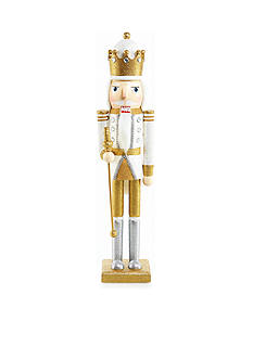 Biltmore White Christmas White & Gold Nutcracker