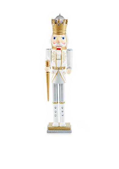 Biltmore white christmas 3 ft king nutcracker belk for 4 foot nutcracker decoration