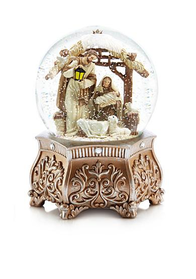 Biltmore White Christmas Holy Family Snowglobe Belk