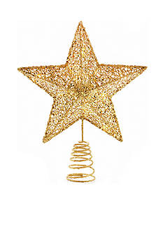 Biltmore White Christmas Glittered Star Tree Topper