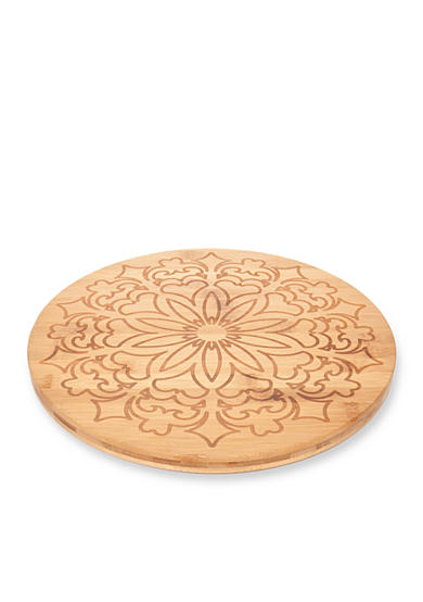 Cooks Tools™ Etched Mandala Bamboo Carving & Serving Board