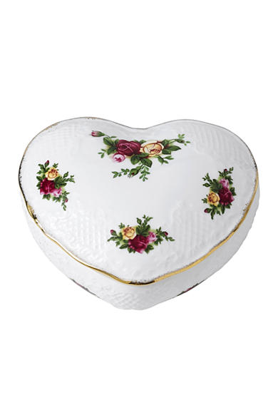 Royal Albert Old Country Roses Victorian Heart Box