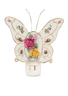 Royal Albert Old Country Roses Butterfly Nightlight