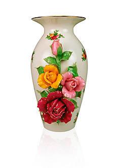 Royal Albert Old Cournty Roses Floral Sculptured Vase